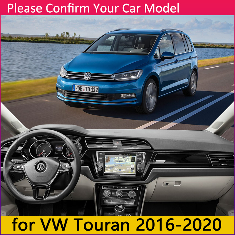 Image 2 - for Volkswagen VW Touran MK2 2016 2017 2018 2019 2020 Anti Slip Mat Dashboard Cover Pad Sunshade Dashmat Protect Car Accessories-in Car Stickers from Automobiles & Motorcycles
