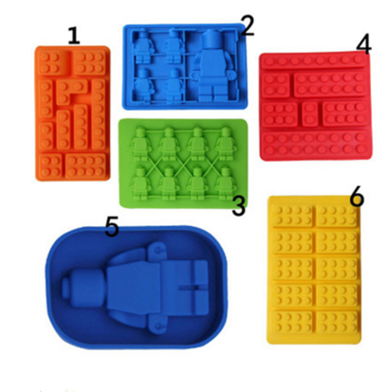 1 Piece Silicone Lego Building Blocks Robot 3D DIY Mold Chocolate Tray Jello Brownie Dessert Pastries Mould Cake Decoration Tool(China)