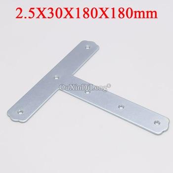 8PCS Metal Flat Corner Braces T Shape Furniture Connecting Fittings Frame Board Support Brackets Fastener Parts 2.5X30X180X180mm