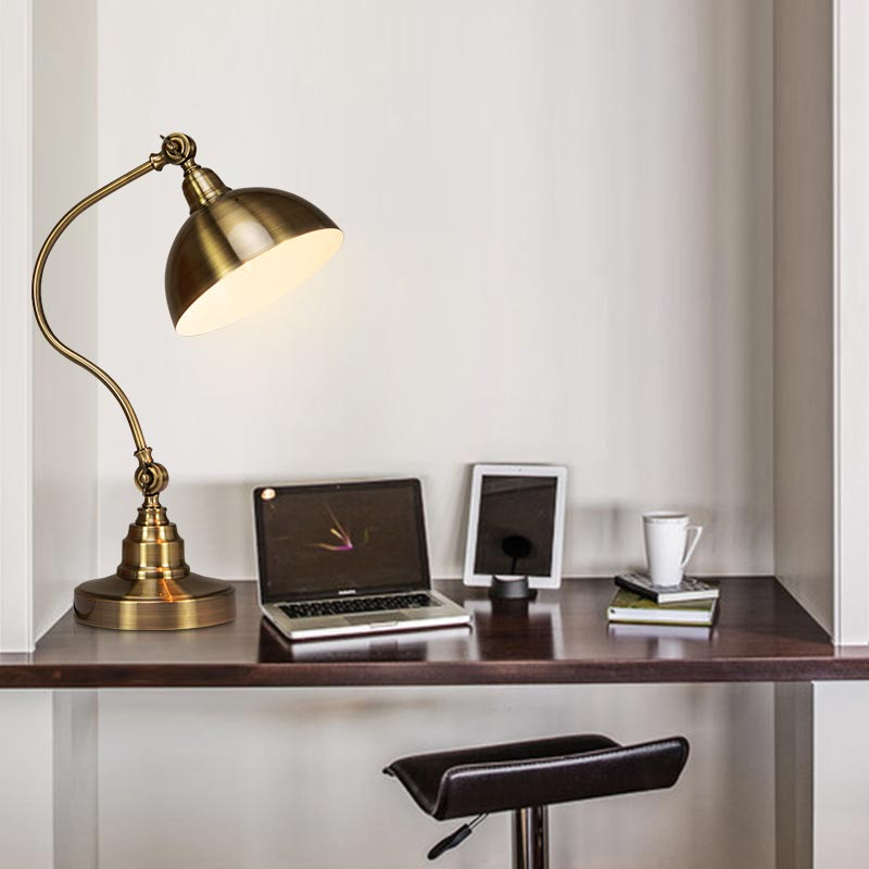 Classic desk lamp modern office study adjustable direction table classic desk lamp modern office study adjustable direction table lamp copper color home lighting in desk lamps from lights lighting on aliexpress aloadofball Image collections