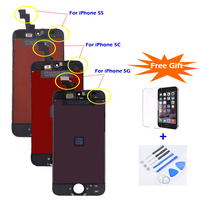 20PCS Lot Factory Price Sale LCD For IPhone 5G 5S 5C AAA Quality LCD Screen Display