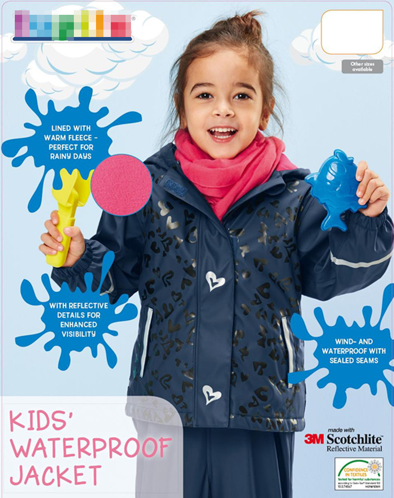 2016 New sspring Children outerwear kids girls jackets fleece lining windbreaker waterproof hoodies jackets & coat
