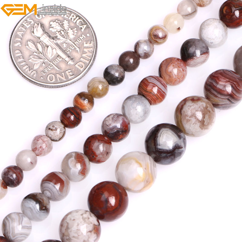 Agate Beads 8mm Natural Gemstone Chocolate Brown  48 Pieces