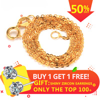 Dainashi High Quality Chain Fashion Genuine 18K Gold Chains Au750 Fine Gold Jewelry High Quality Anti Allergic 45cm Gift Box