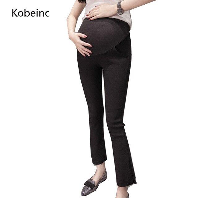 6de9988e6 Kobeinc Estirable Pantalones Acampanados Pantalones de Maternidad Para Las Mujeres  Embarazadas se Preocupan Vientre Delgado Recortada