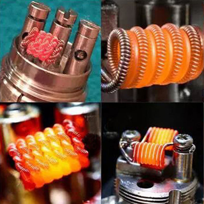 Nigel 48PS Vape Coil Prebuilt Coils 8 In 1 Coil Set with 10 Pcs Cottons Heating Resistance Wire for DIY RDA RTA Atomizer