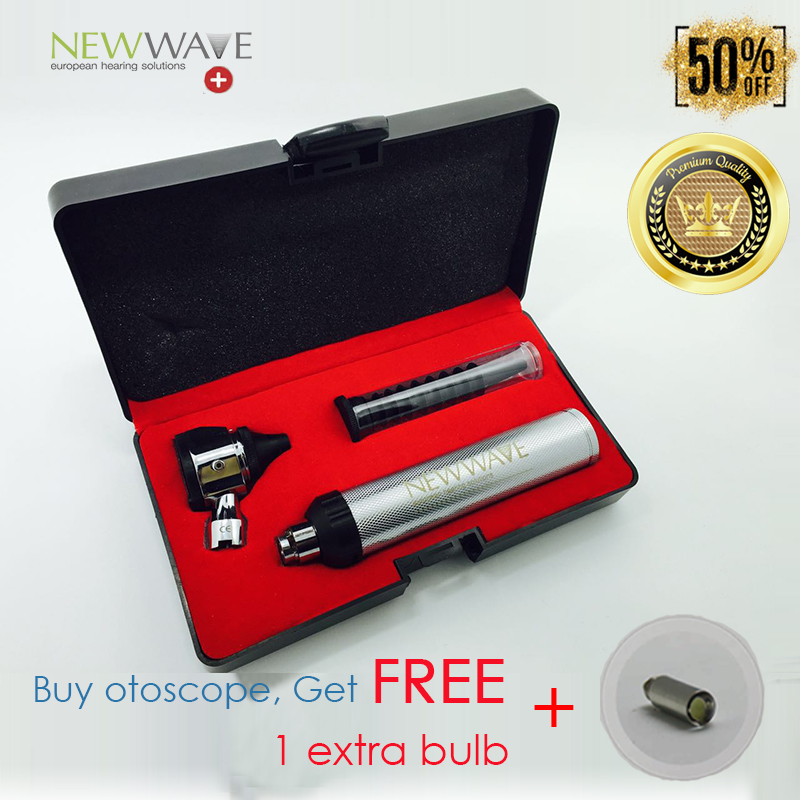 ФОТО Super High Quality With Cheap Price- Hot Sale Free Shipping-Premium Optic Otoscope LED kit set Metal Portable Medical Ear Care