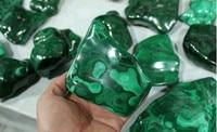 1000g 100% Natural Green MALACHITE Crystal Chatoyant Rough Polished Congo