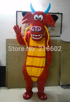 2017 High quality Mushu dragon mascot costumes for sale dragon mascot Costume Character Costume dragon Cosplay Free Shipping