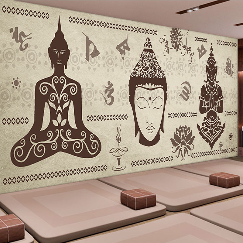 Genial Custom Wall Mural India Style Wallpaper Living Room Yoga Hall Stadium  Dining Room Bedroom Background Buddha Wallpaper Mural In Wallpapers From  Home ...