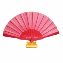 Free Shipping antique chinese bamboo folding silk hand fans for gift and art-collection pink