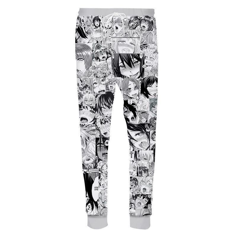 Fashion Womens//Men/'s Ahegao Face Manga 3D Print Casual Trousers Pants