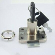 1 шт. 16 мм цилиндр Серебряный тон дэдболт замок ящика для шкафа замок для шкафа высокого качества, полезный замок ящика с 2 клавишами