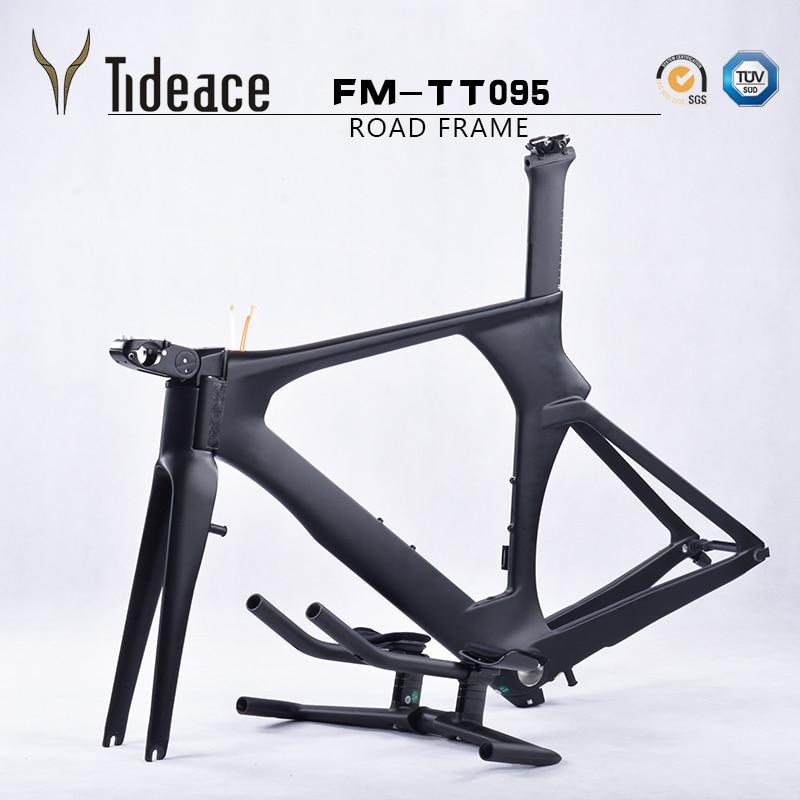 Discount Carbon TT Frame Time Trial Frameset 49/52/54/56cm Carbon TT frame triathlon carbon tt frameset quadro de bicicleta