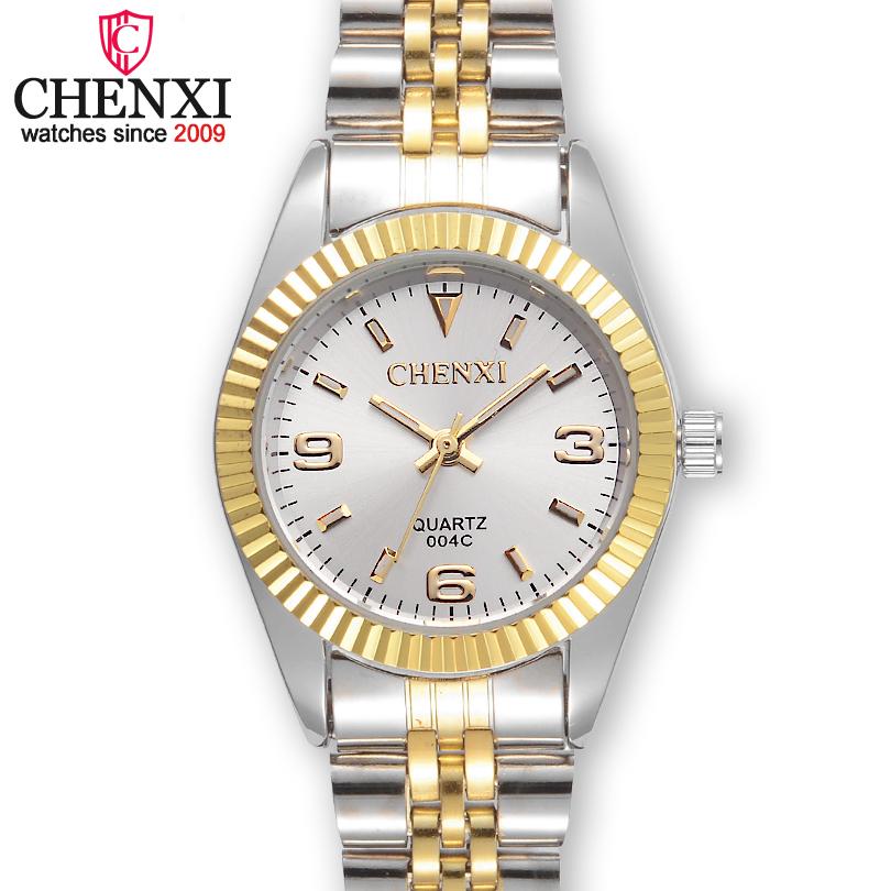 Prix pour CHENXI Femmes Or & Argent Classique Quartz Montre Femme Élégante Horloge De Luxe Cadeau Montres Dames Montre-Bracelet Étanche
