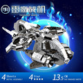 MU 3D Metal Puzzle Star Craft Banshee Thunderhawk Gunship Aircraft TGA-S01 Building Model DIY 3D Laser Cut  Jigsaw Toys