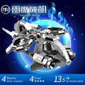 MU Metal 3D Puzzle Star Craft Banshee Thunderhawk cañonera TGA-S01 Aviones Modelo de Construcción de BRICOLAJE Corte Láser 3D Jigsaw Juguetes