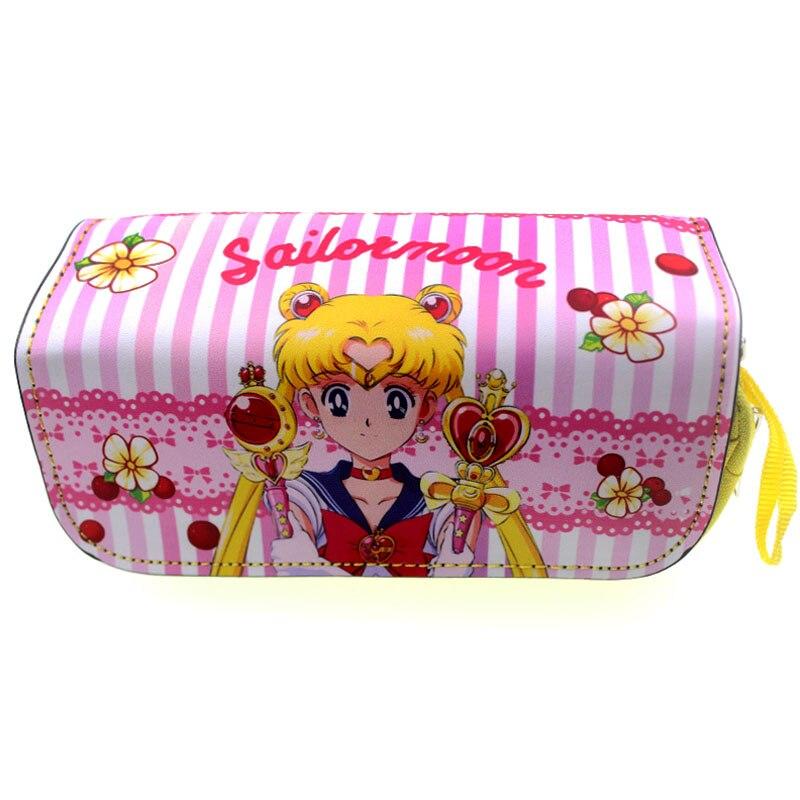 Makeup-Bag Pencil-Case Anime Sailor-Moon/card Totoro/fairy-Tail Sakura School New-Arrival