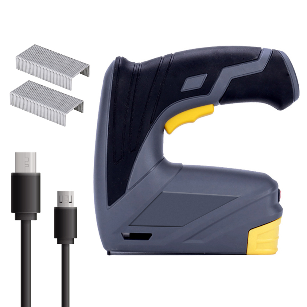 Wireless Lithium Battery 2 in 1 Nailer And Electric Stapler Home Nailer Staple Installation Woodworking Supplies