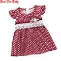 Girls dress nuevo punto de impresión bebé playa bohemia vestidos sin mangas de los niños ropa de niños vestidos