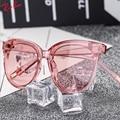 2017 colorido transparente do vintage cat eye óculos de sol das mulheres revestimento de óculos de sol feminino oculos de sol feminino