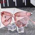 2017 colorido transparente vintage cat eye sunglasses mujeres recubrimiento gafas de sol mujer gafas de sol feminino