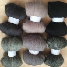 Войлочная шерсть WFPFBEC для валяния 6 цветов 10 г/цвет всего 60 г