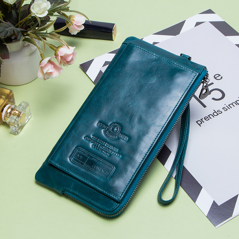 Image 5 - Fashion Wallet Women Genuine Leather Coin Purse Female Long Walet  Rfid Card Holder Large Capacity Clutch Bag With Phone HolderWallets