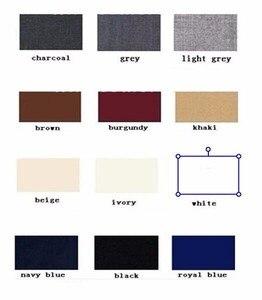 Image 4 - New Grey Peak Lapel Groom Tuxedos Bridegroom Men Suit 3Pieces Custom Made Latest Design Groom Blazer(Jacket+Pant+Vest+Tie)