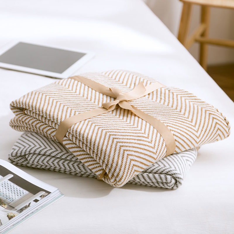 cotton striped blanket for bed sofa aircondition chunky knit weighted throw with tassels adult summer Bedspreadcotton striped blanket for bed sofa aircondition chunky knit weighted throw with tassels adult summer Bedspread