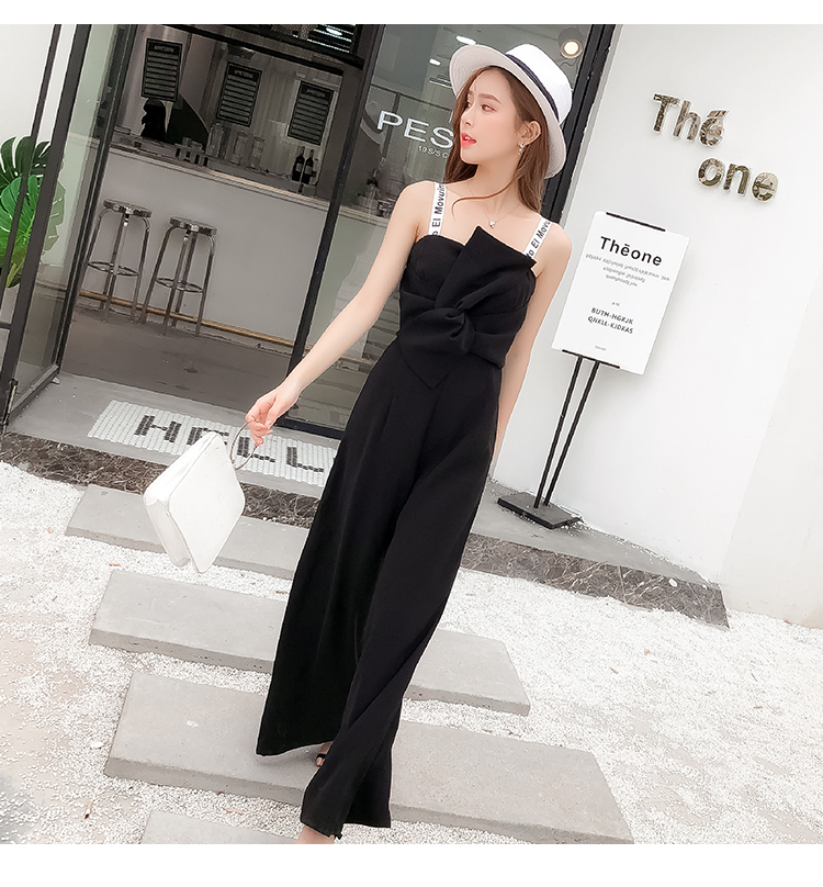 Summer New Sling Bowknot Rompers Womens Jumpsuit Fashion Wide Leg Pants Thin Combinaison Femme Elegant Ol Clothes For Women 9