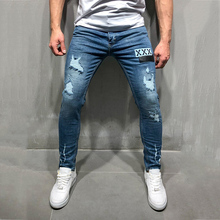New Fashion Casual Men Jeans Skinny Motorcycle Denim Pants Mens Badge Embroidered Designer Jeans Trousers Hip Hop Men Clothes