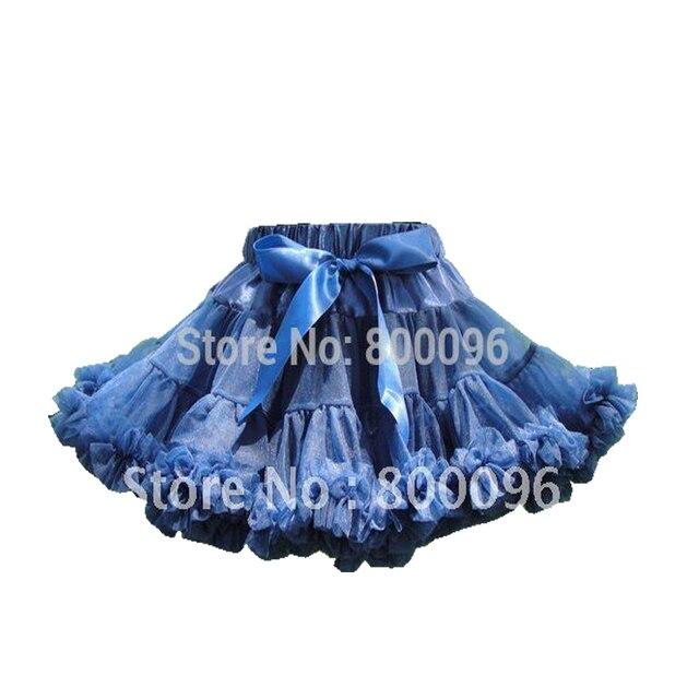 Hot Sale Girl Tutu Skirt Kids Princess Blue Bow of  Short Skirts for Kids Pettiskirt PETS-115