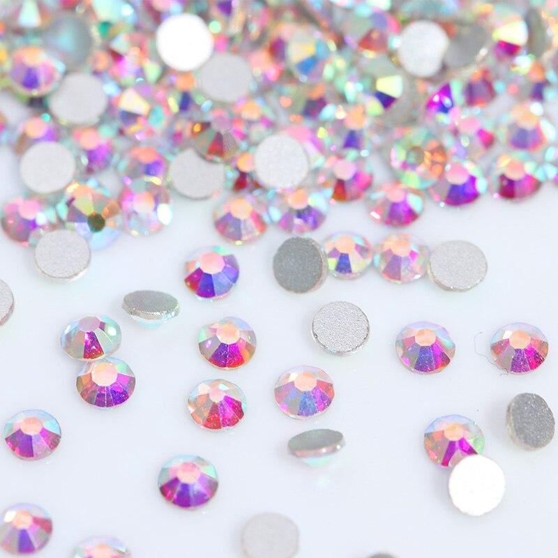 Crystal Clear AB Rhinestones Colorful Flat Back Rhinestones 7 - Arte de uñas