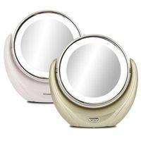 아름다움 Led 메이크업 거울 360 회전 우수한 조명 배 높은 명확한 화장품 휴대용 전문 메이크업 거울