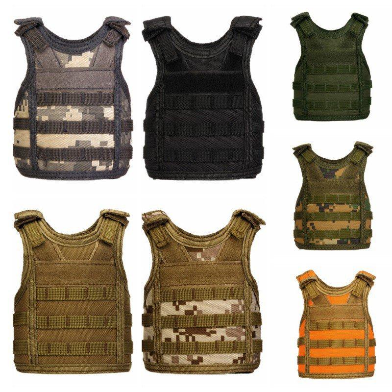 Tactical Beer Bottle beer vest Cover Military Mini Miniature Molle Vest Personal Bottle Drink Set Adjustable Shoulder Straps