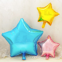 5pcs/lot  Five Star Foil Balloon for Party Supply Promotion Print Air Balloon Advertising Wedding Birthday Room Layout