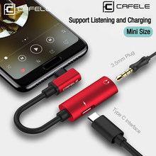 Cafele Type C to 3.5mm Cable USB C OTG to 3.5mm AUX Adapter For Xiaomi Mi 9 8 Redmi Note 7 Huawei P20 30 pro Jack Audio Adapter(China)
