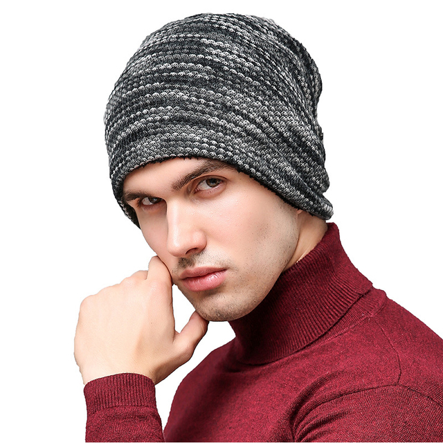 0cd63b780 US $5.0 |2018 Autumn Winter Hats Men Hot Sale Thick Velvet Colorful Knitted  Caps Men's Outdoor Wool Caps Cashmere Winter Beanie-in Skullies & Beanies  ...