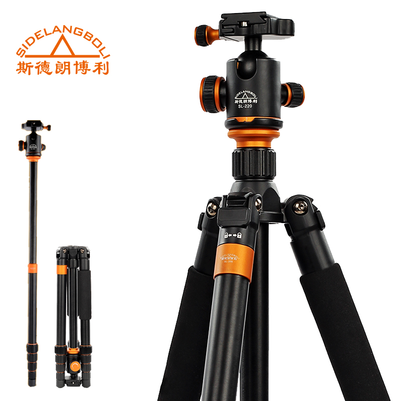 160CM Professional DSLR Camera Support SL368 Portable Aluminum 2 in 1 Tripod Monopod For Digital DV Video Cmcorder 10KG Load aluminium alloy professional camera tripod flexible dslr video monopod for photography with head suitable for 65mm bowl size