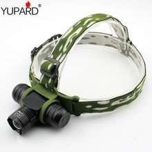 YUPARD  Zoomable Zoom IN/OU T6 LED Headlamp Adjust Headlight 5 Mode Waterproof AAA 18650 rechargeable battery 1000lm torch