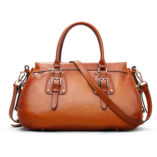 Rockcow Full Grain Leather Bag Las Hand Bags Women Satchel Handbag Designer