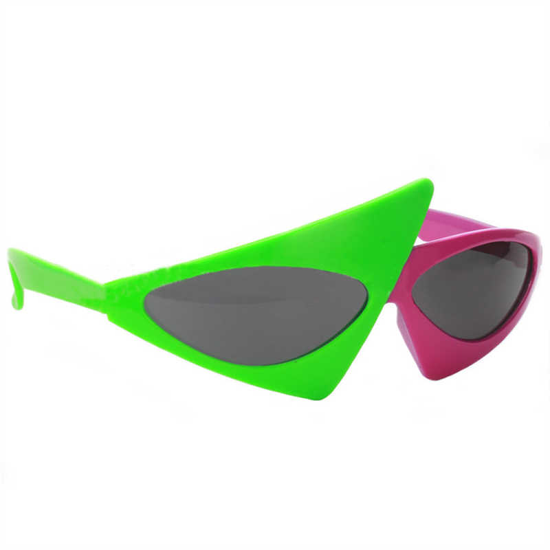 3c8ea7f364 ... Funny Hip-Hop Asymmetric Triangular Sunglasses Novelty Green Pink Contrast  Color Glasses Party Supplies Decoration ...