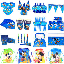 Tablecloth Birthday-Decorations Mickey Mouse Napkins Cups Party-Supplies Disposable Plates
