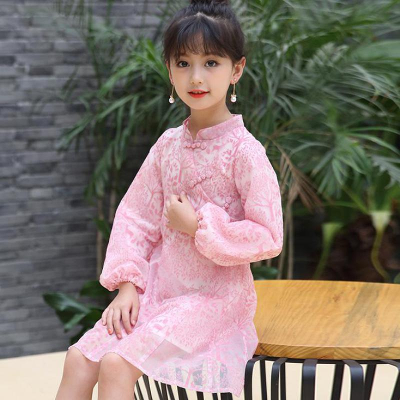 2017 Summer Baby Girls Princess Dress Kids Clothes Girls Children Clothing Chinese Style Teenage Girls Dress Party Wedding 13 14 bohemia teenage girls dress summer 7 9 11 years costumes spring children clothing kids clothes girls party frocks designs hb3028