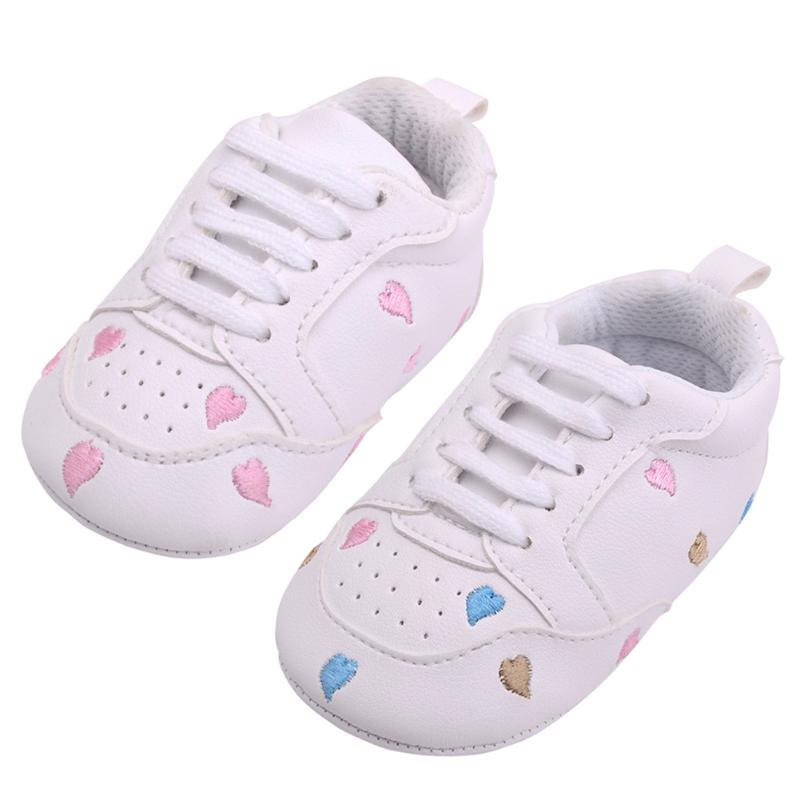Baby Sports Shoes Toddler Infant Love Pattern Soft Sole Prewalker Shoes for Girls Baby First Walkers Sneakers