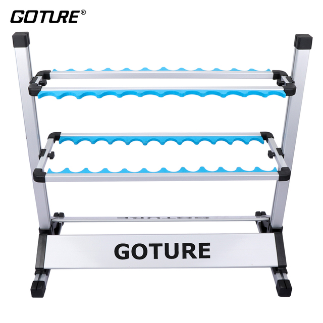 Folding Chair Fishing Pole Holder Plastic Outside Table And Chairs Goture New Arrival Portable Rod Aluminum Alloy 24 Racks Eva Groove Holders For All Type Rods