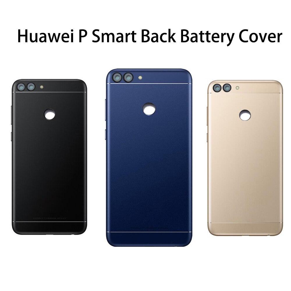 Huawei p smart back capa da bateria porta traseira habitação caso para huawei desfrutar 7 s p inteligente bateria capa com câmera lente substituição