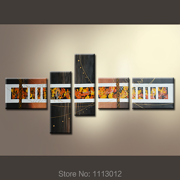 New Abstract Flower Line Oil Painting On Canvas High Quality 5 Pcs Sets Home Modern Wall Art Decoration For Living Room Sale
