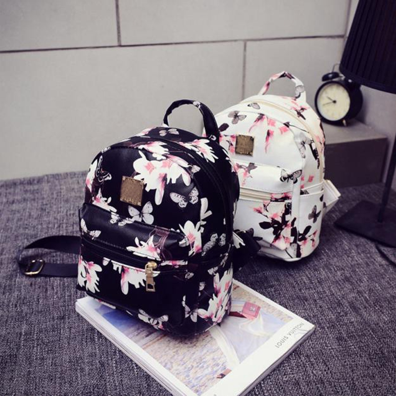 mochilas mujer 2017 Hot Sale Fashion Causal Floral Printing Backpacks PU Leather Backpack For Teenagers Girls Mochilas Hot Sale